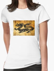 Vintage Dragon Womens Fitted T-Shirt