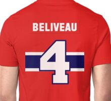 Jean Beliveau #4 - red jersey Unisex T-Shirt