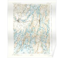 Maine USGS Historical Map Bath 460158 1894 62500 Poster