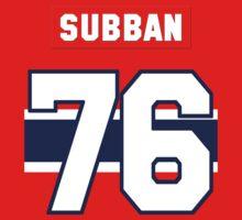 P.K. Subban #76 - red jersey by ianscott76