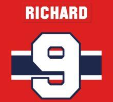Rocket Richard #9 - red jersey Kids Tee