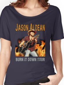 JASON ALDEAN BURN DOWN Women's Relaxed Fit T-Shirt