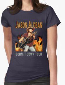 JASON ALDEAN BURN DOWN Womens Fitted T-Shirt