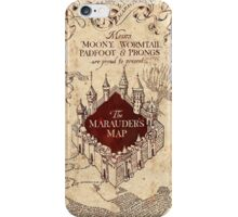 Harry Potter Marauder's Map iPhone Case/Skin