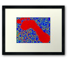 Colorful Abstract Painting Original Art Titled: Go Big Framed Print