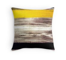 Acrylic Abstract Painting Original Art on Canvas Titled: Double Time Throw Pillow