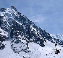 Aiguille du midi, Mont Blanc Massif, France by ljm000
