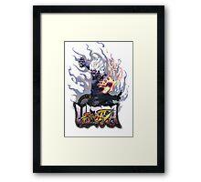 ultra street fighter oni Framed Print
