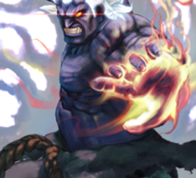 ultra street fighter oni Sticker