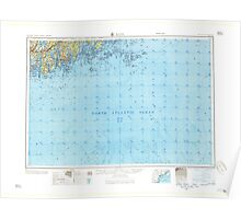 Maine USGS Historical Map Bath 460161 1957 250000 Poster