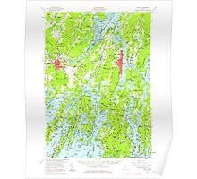 Maine USGS Historical Map Bath 460162 1957 62500 Poster