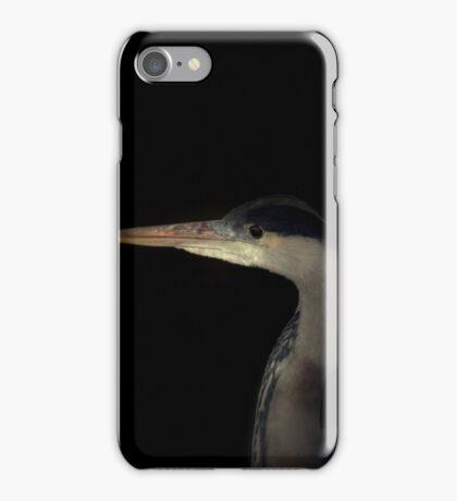 Grey Heron portrait  iPhone Case/Skin
