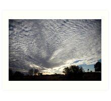 under fleecy clouds Art Print