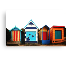 Mornington Peninsula - boat sheds Canvas Print