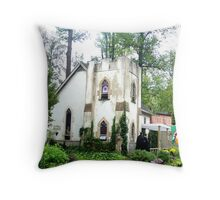 The Faire Abbey Throw Pillow
