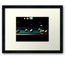 A Game Of 8 Ball Framed Print