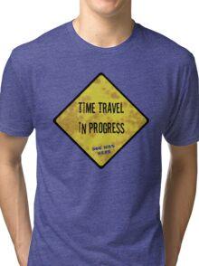 Time Travel Caution Tri-blend T-Shirt