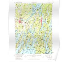 Maine USGS Historical Map Bath 460165 1957 62500 Poster