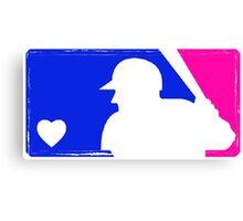MLB Baseball Tee (Vintage) Canvas Print