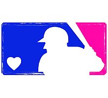 MLB Baseball Tee (Vintage) Photographic Print
