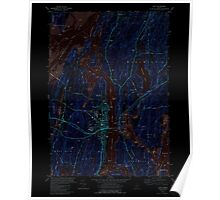 Maine USGS Historical Map Bath 460166 1980 24000 Inversion Poster