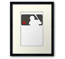MLB Baseball Love At Night Framed Print