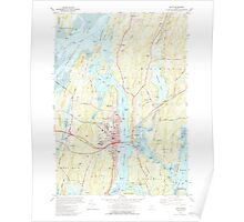 Maine USGS Historical Map Bath 460166 1980 24000 Poster