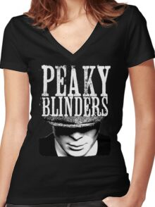 The Peaky Blinders Women's Fitted V-Neck T-Shirt