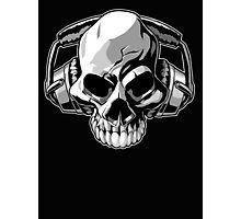 Skull phones Photographic Print