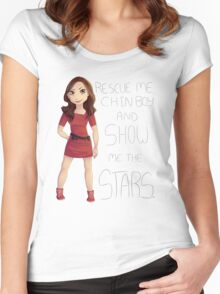 Oswin - Show Me the Stars Women's Fitted Scoop T-Shirt