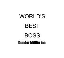 dunder mifflin worlds best boss mug - By MBK9540 by mbk9540