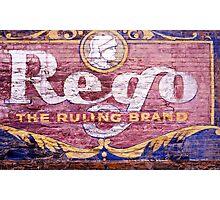 Rego sign, Victoria Photographic Print