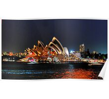 Sydney, Opera House from Milsons Point Poster