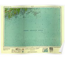 Maine USGS Historical Map Bath 806492 1958 250000 Poster