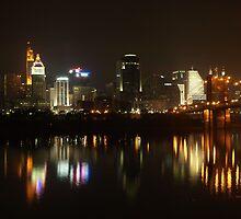 Cincinnati Night Skyline by Mike Stanfield