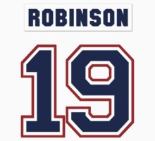 Larry Robinson #19 - white jersey One Piece - Short Sleeve