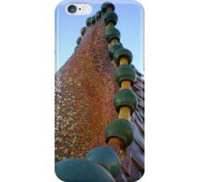 Gaudi's Casa Batllo ceramic dragon's back roof tiles iPhone Case/Skin