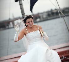One Happy Bride.....! by Peter Redmond