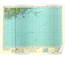 Maine USGS Historical Map Bath 806494 1956 250000 Poster