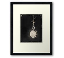 Time standing still Framed Print