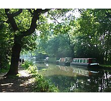 Summer on the River Wey Navigation, Wisley, Surrey, U.K. Photographic Print