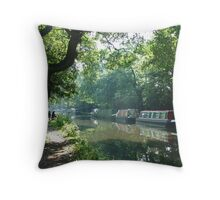 Summer on the River Wey Navigation, Wisley, Surrey, U.K. Throw Pillow