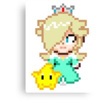 Rosalina and Luma - Smash Bros Mini Pixel Canvas Print