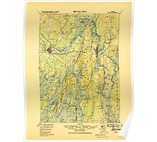 Maine USGS Historical Map Bath 807362 1920 62500 Poster