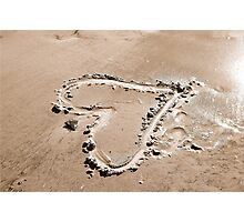 Heart in the sand Photographic Print