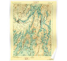 Maine USGS Historical Map Bath 807363 1894 62500 Poster