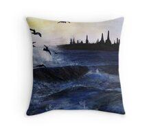 Sea Mist Throw Pillow