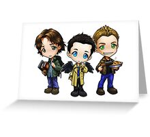 Team Free Will - Chibi Style Greeting Card