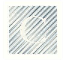 Striped C Art Print