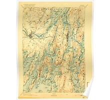 Maine USGS Historical Map Bath 807364 1894 62500 Poster